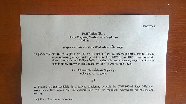 inicjatywa uchwałodawcza wodzisław