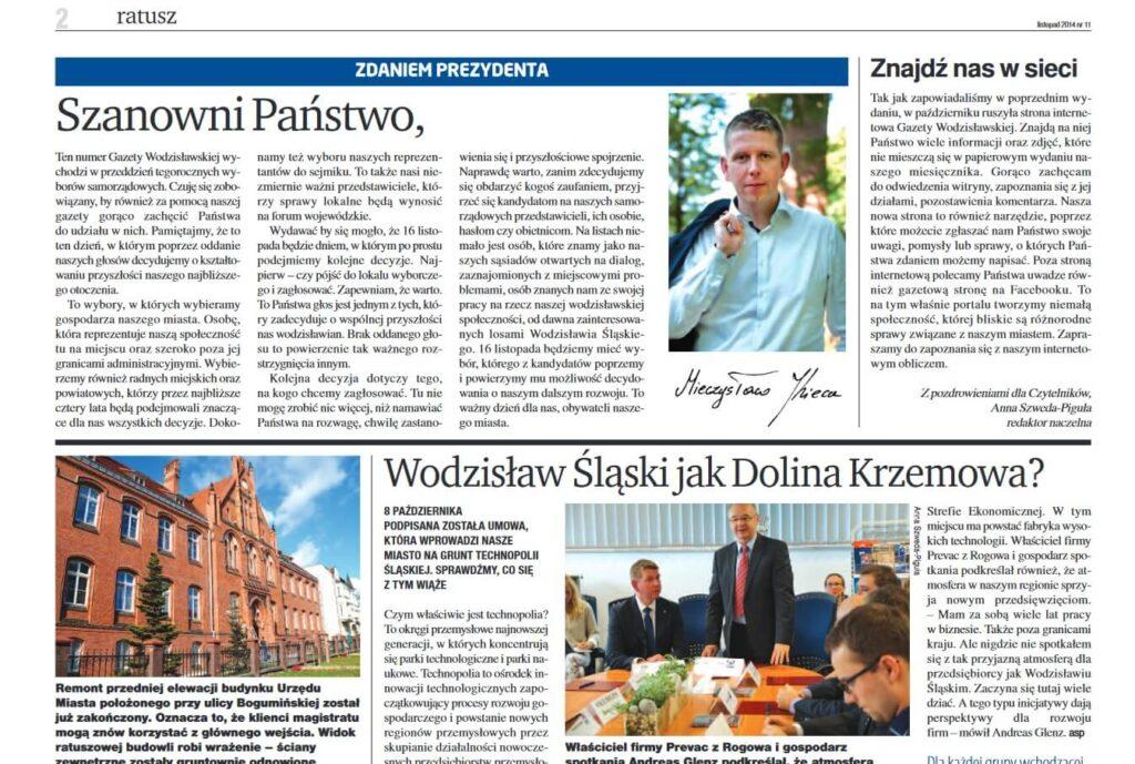 gazeta wodzislawska likwidacja